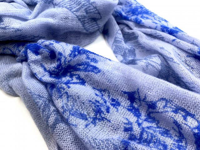 SFL-1703_Cashmere shawl with mountain print_blue base with blue print copy